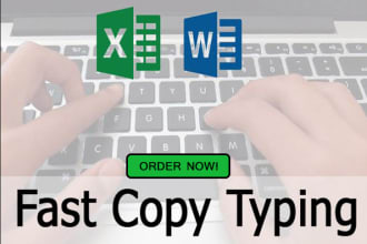 do fast typing of any documents, scanned document