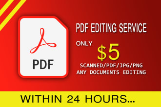 do any document edit pdf, images in 1 hour