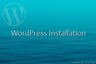 install wordpress with a number of basic plugins and configure it