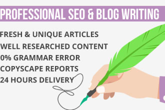 do SEO article writing in 24 hours