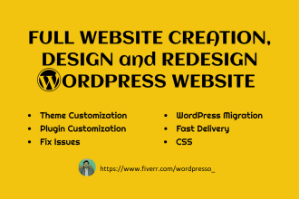 fix issues, customize, redesign and revamp wordpress website