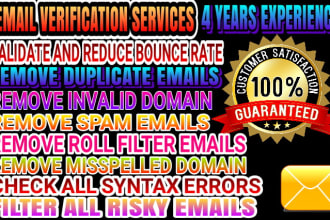 do email verification and bulk email validation within 24hr