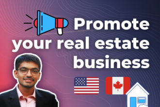 promote your real estate business on social media