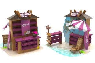 design gandola, podium, pos, packaging