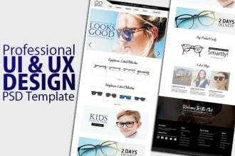 create professional, web template or PSD website design