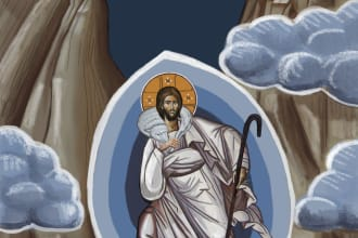 paint a digital christian icon for you