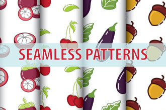design seamless pattern design for fabric with a flat style