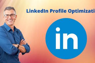 do linkedin profile creation, optimization, profile writing