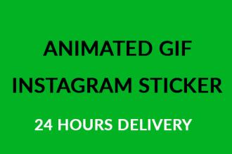 do create instagram  GIF stickers, gif animation