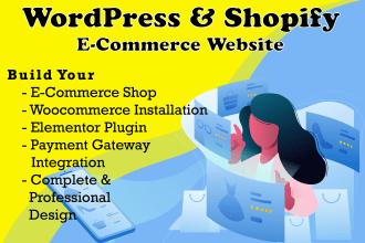 design business or ecommerce wordpress website