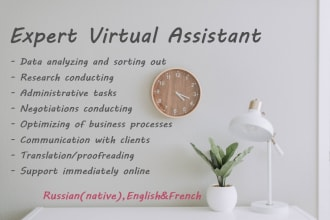 be your virtual assistant with russian