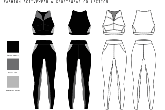 design your fashion activewear and sportswear collection
