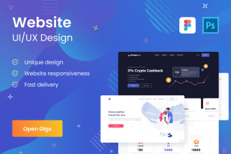 create ux ui design website, landing page for you