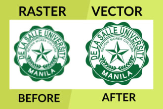 illustration vector tracing or redraw logo,raster to vector