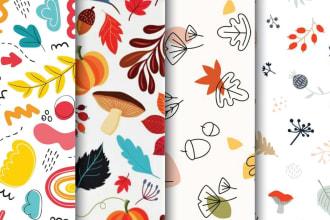 design a flat seamless pattern for kids