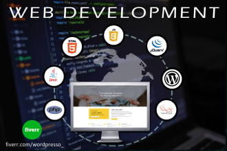web programming with php, javascript, CSS, wordpress backend