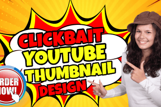 design best catchy clickable and clickbait youtube thumbnail