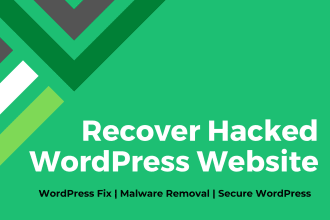 recover hacked wordpress website, remove malware and secure