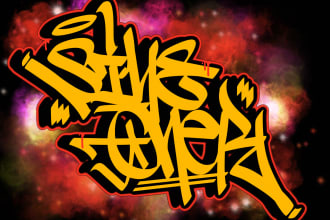 do custom graffiti handstyles or tags for you