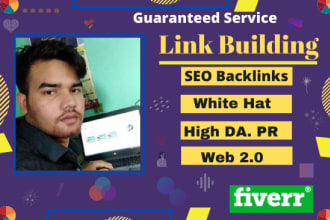 do 50 link building in high da site, backlinks