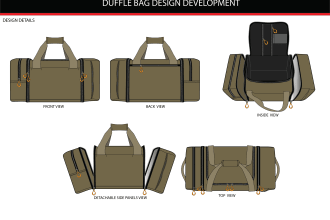 create bag design, backpack, hand bag and bag tech pack
