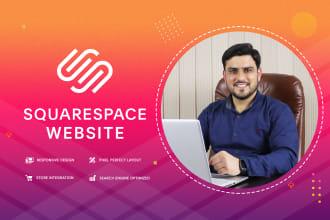 do squarespace website design or redesign squarespace
