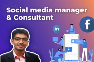 be your social media manager and consultant