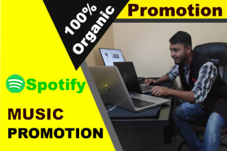 do organic spotify promotion for grow your monthly listeners
