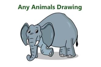 draw any animals vector art