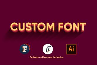 create a custom font for you in ttf, otf