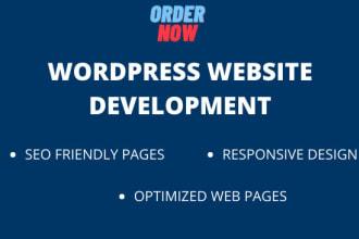 design and develop fully responsive wordpress website