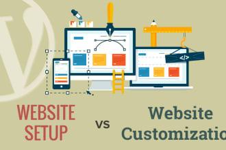 customize your wordpress site to your tatse