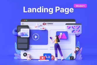 create professional landing page design in wordpress or wix