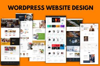 do wordpress website design, redesign, customize