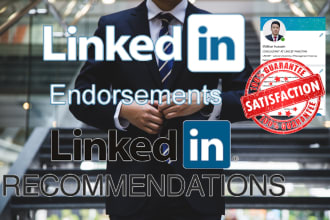 endorse or write recommendations on your linkedin