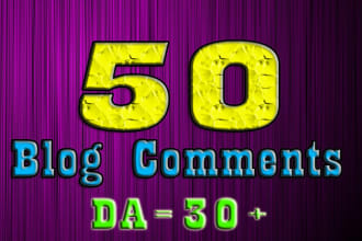 50 blog comments da30 plus