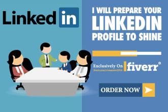prepare your linkedin profile to shine