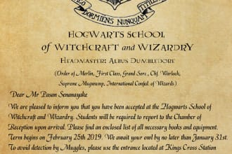 create personalized hogwarts acceptance letter
