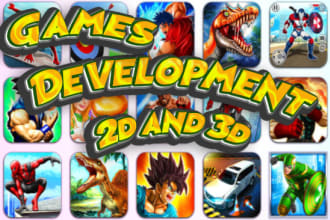 develop a andriod mobile 2d and 3d game