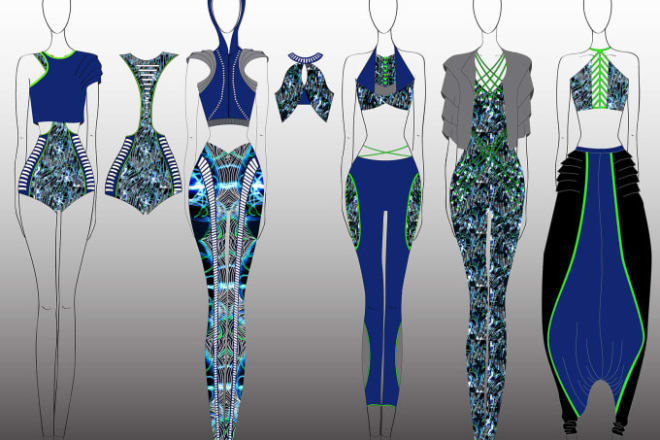 I will design technical flat cad and fashion illustration