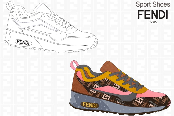 I will design luxury footwear or shoes for women, men and kids