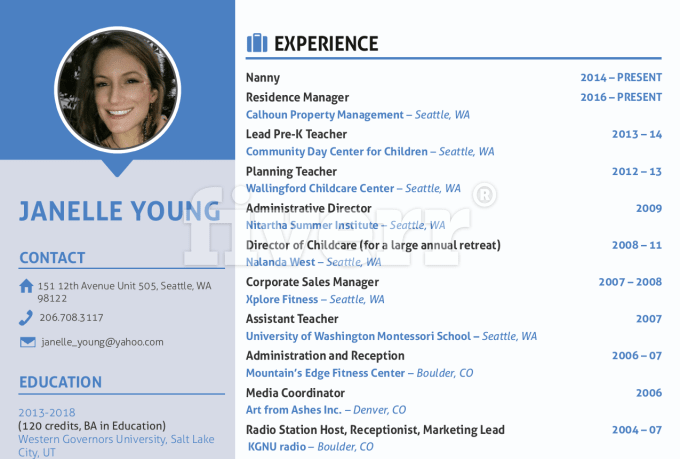 Rewrite resume design resume cv cl resume design and linkedin by