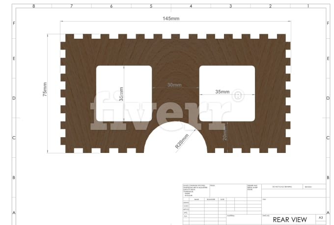 prepare drawings with DXF files for laser cutting m