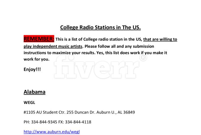 radio cover letter