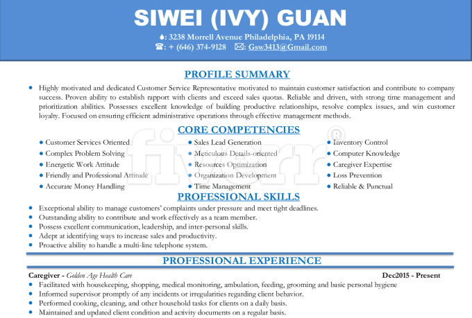 write rewrite resume or cover letter resume writer by adeseye resume