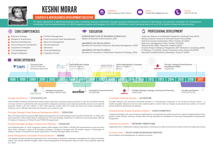 how to create an infographic resume