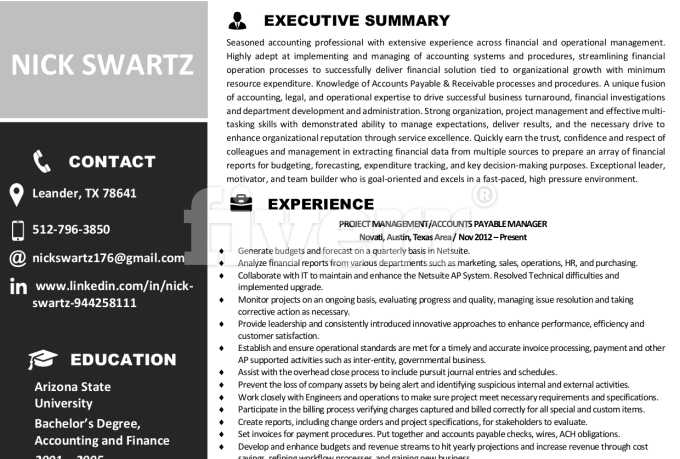 Ats Review Resume Resume Ideas