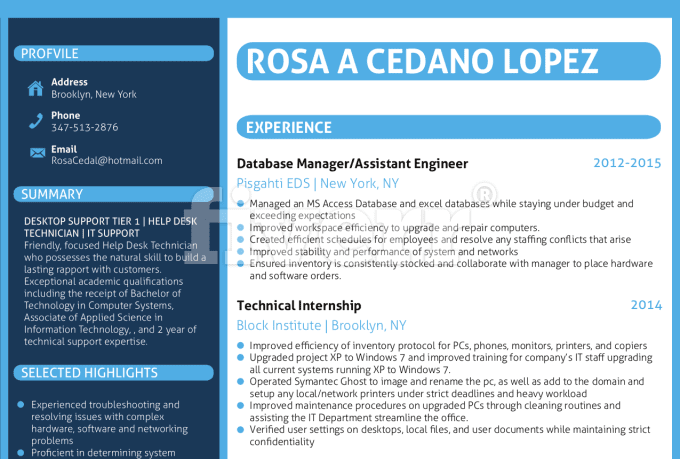 design and edit a resume  curriculum vitae  cover letter