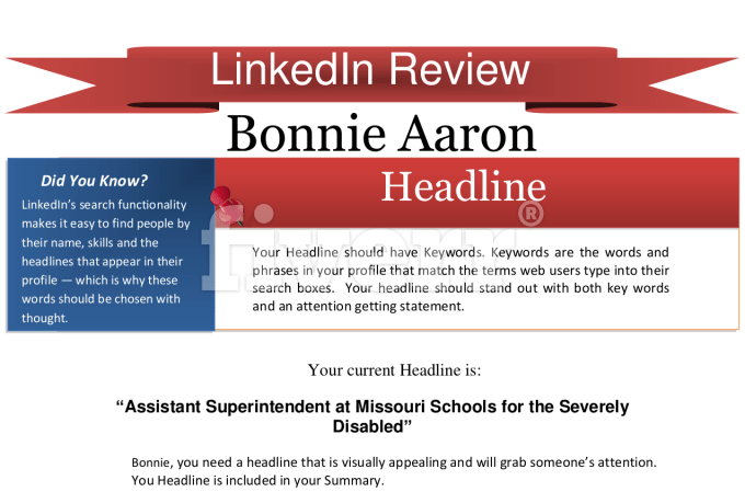 Write or review your linkedin profile resume