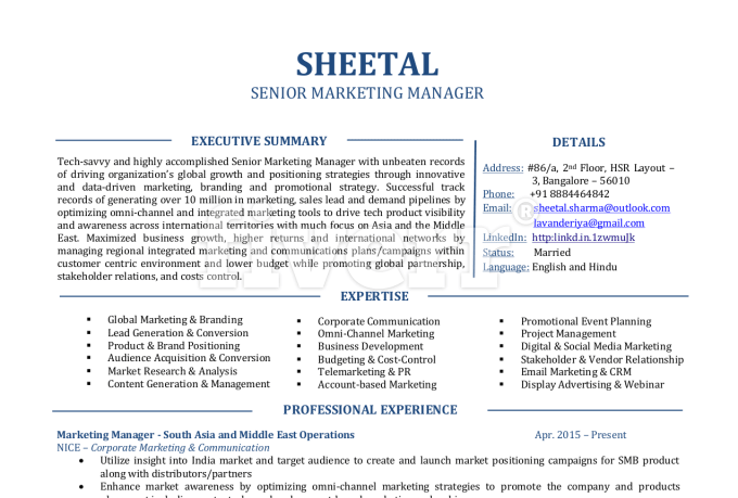Professional Cv And Cover Letter